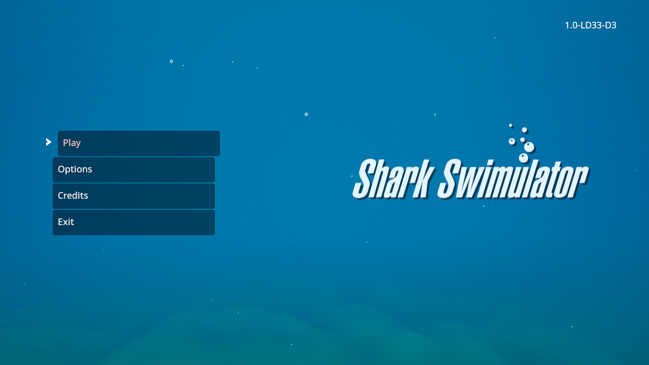 Shark Swimulator Title Screen